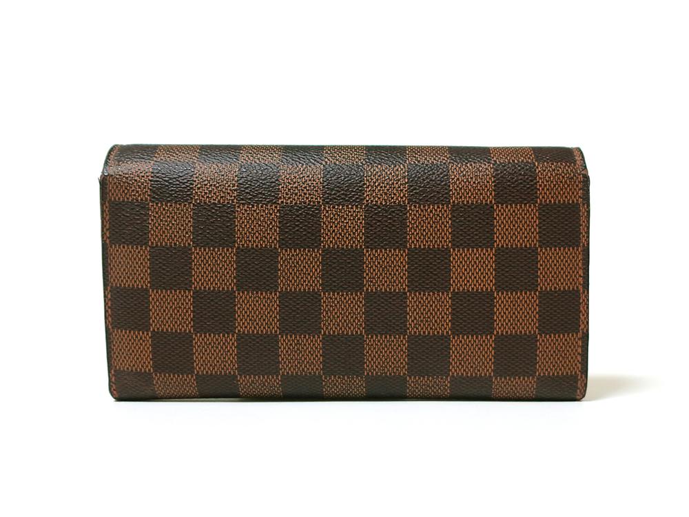 ルイヴィトン ダミエ エベヌ ポルトフォイユ・サラ 長財布 N61734 Bランク 背面