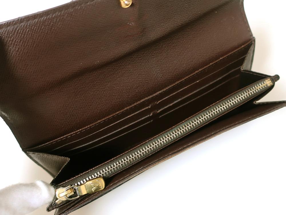 ルイヴィトン ダミエ エベヌ ポルトフォイユ・サラ 長財布 N61734 Bランク カード入れ01