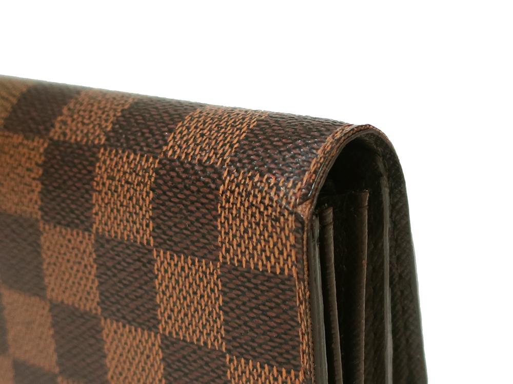 ルイヴィトン ダミエ エベヌ ポルトフォイユ・サラ 長財布 N61734 Bランク 外側ダメージ01