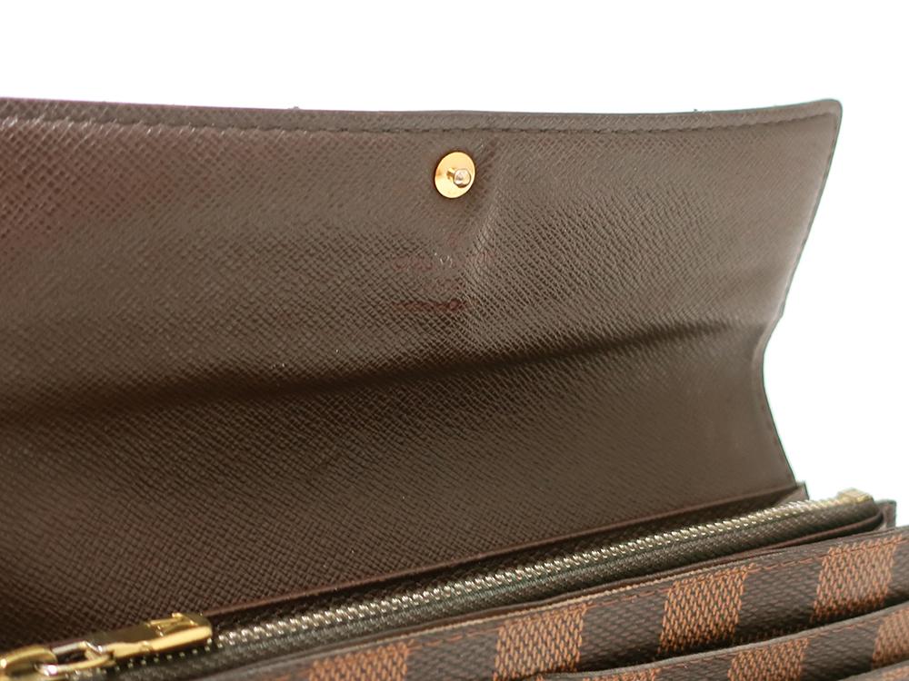 ルイヴィトン ダミエ エベヌ ポルトフォイユ・サラ 長財布 N61734 Bランク 内側ダメージ01