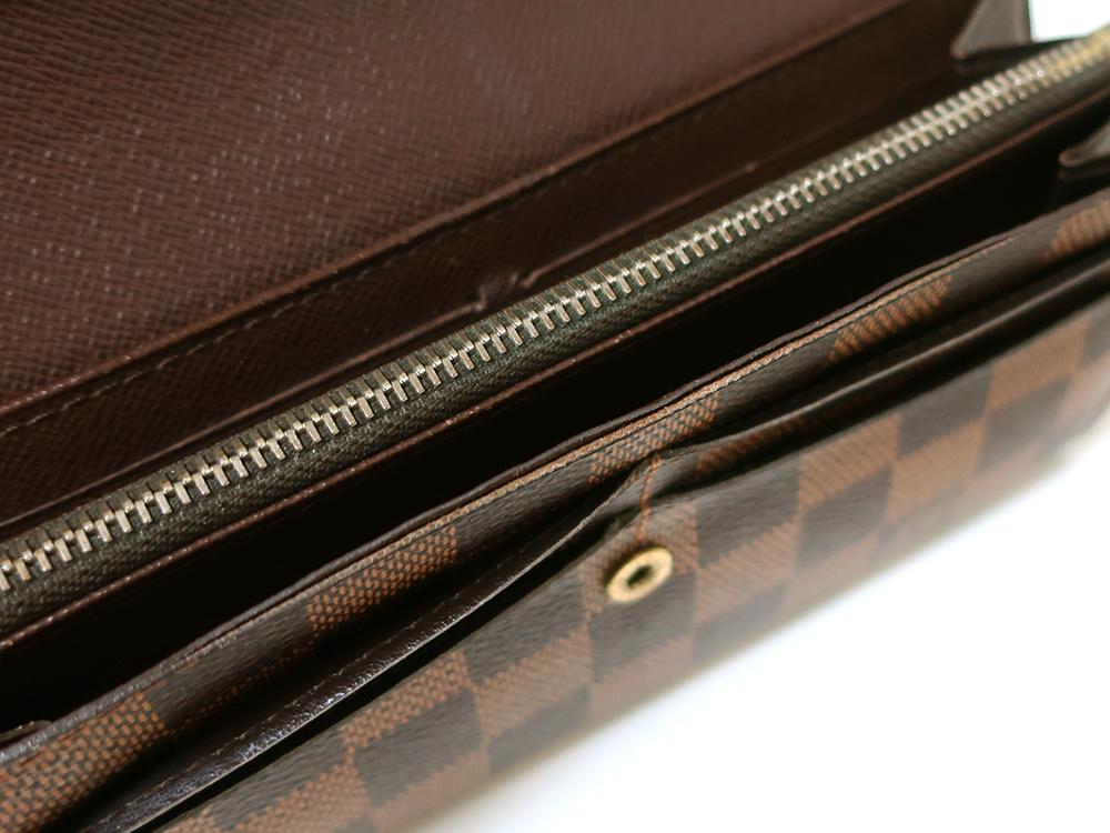ルイヴィトン ダミエ エベヌ ポルトフォイユ・サラ 長財布 N61734 Bランク 内側ダメージ02