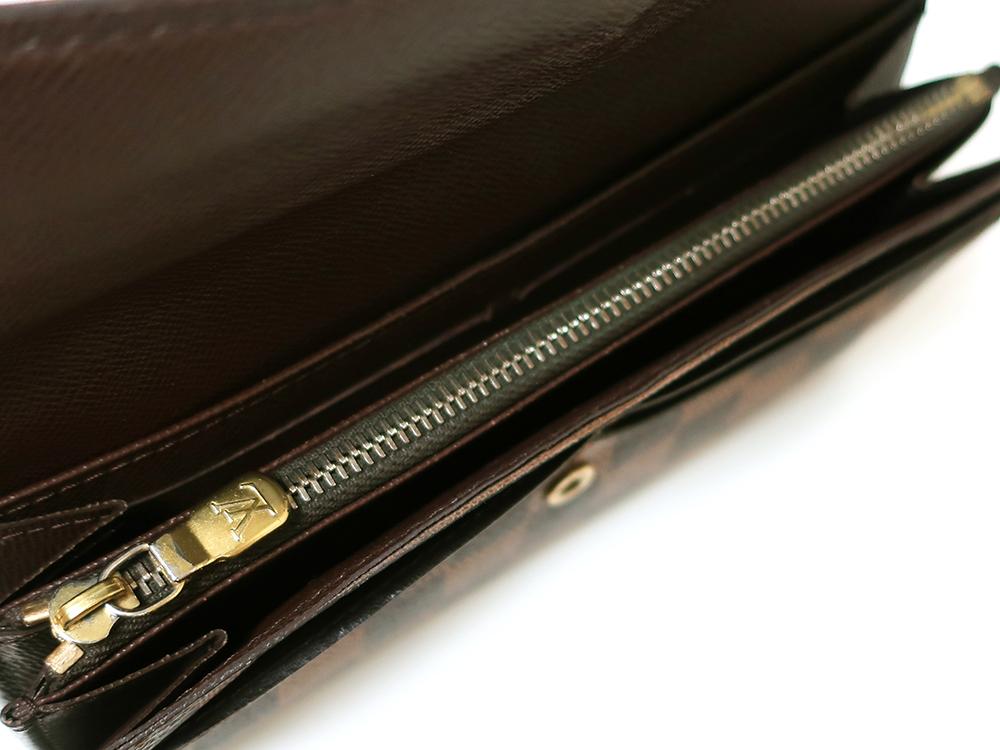 ルイヴィトン ダミエ エベヌ ポルトフォイユ・サラ 長財布 N61734 Bランク 内側ダメージ03