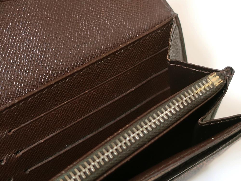 ルイヴィトン ダミエ エベヌ ポルトフォイユ・サラ 長財布 N61734 Bランク 内側ダメージ04