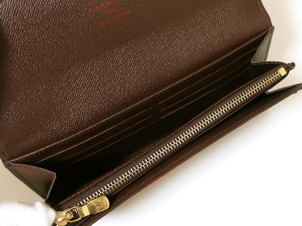ルイヴィトン ダミエ エベヌ ポルトフォイユ・サラ 長財布 N61734 ABランク カード入れ01