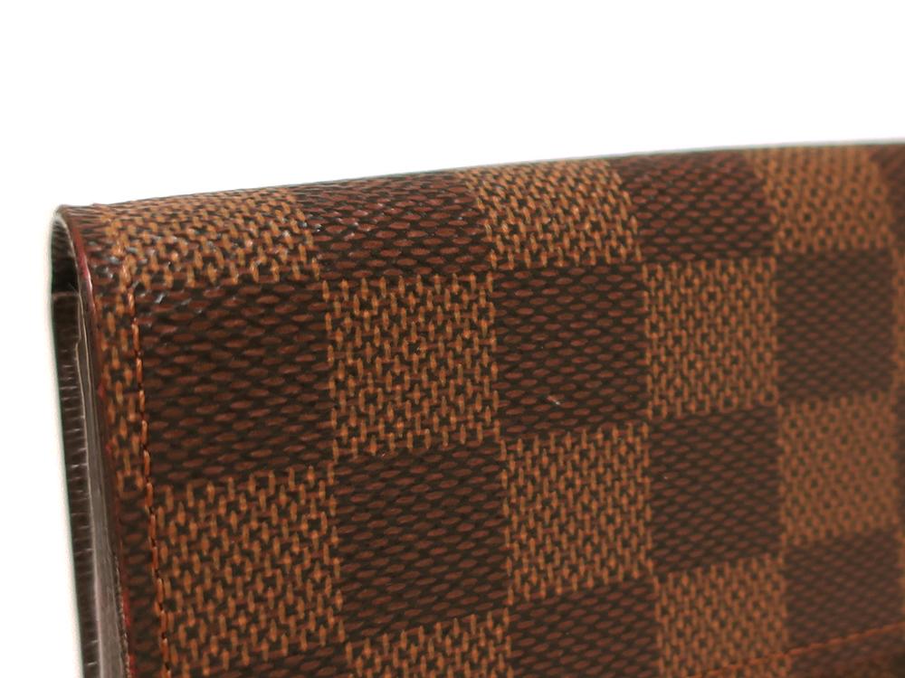 ルイヴィトン ダミエ エベヌ ポルトフォイユ・サラ 長財布 N61734 ABランク 外側ダメージ01