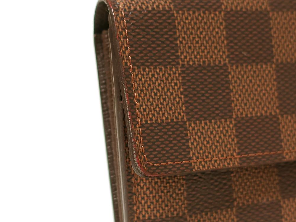 ルイヴィトン ダミエ エベヌ ポルトフォイユ・サラ 長財布 N61734 ABランク 外側ダメージ02