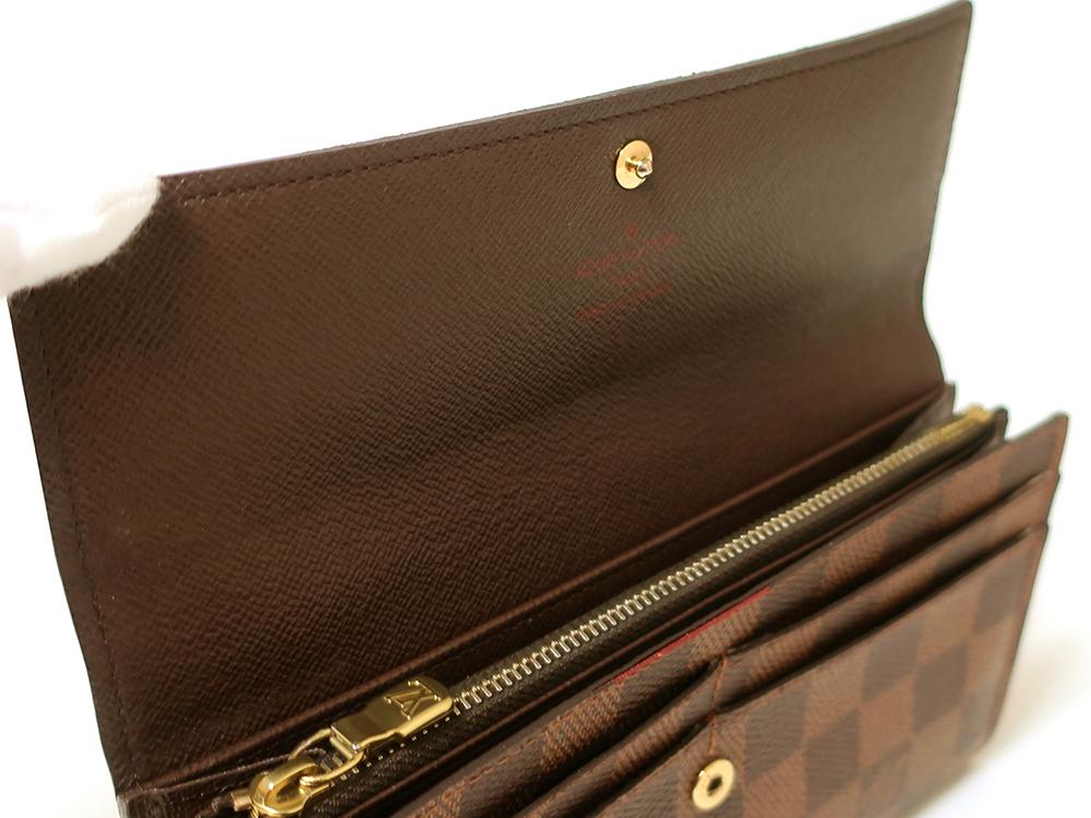 ルイヴィトン ダミエ エベヌ ポルトフォイユ・サラ 長財布 N61734 ABランク 内側ダメージ01