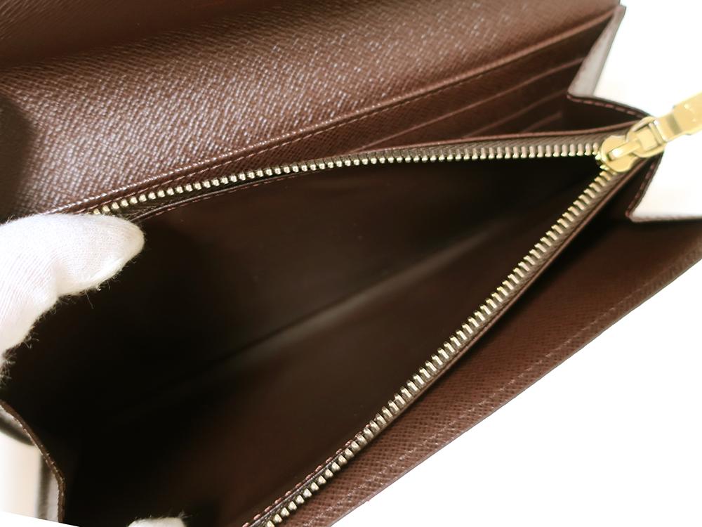 ルイヴィトン ダミエ エベヌ ポルトフォイユ・サラ 長財布 N61734 ABランク 内側ダメージ03