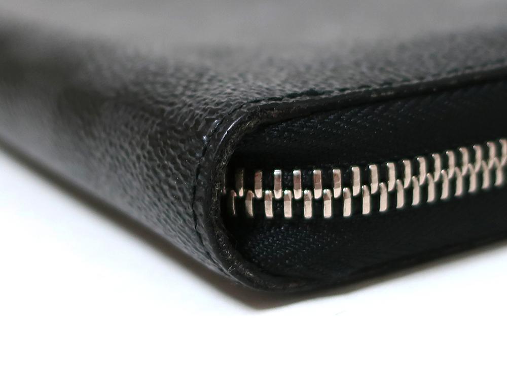 ルイヴィトン ダミエ グラフィット ジッピー・オーガナイザー 長財布 N63077 ABランク 外側ダメージ02