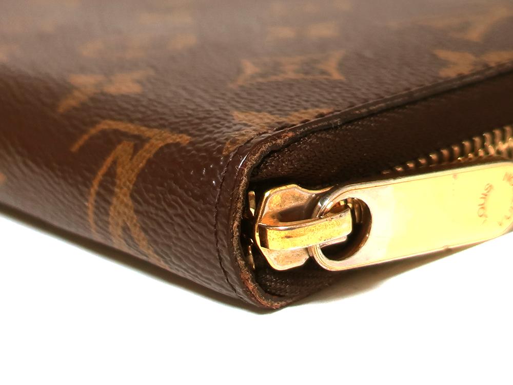 ルイヴィトン モノグラム ジッピー・オーガナイザー 長財布 M60002 外側ダメージ02