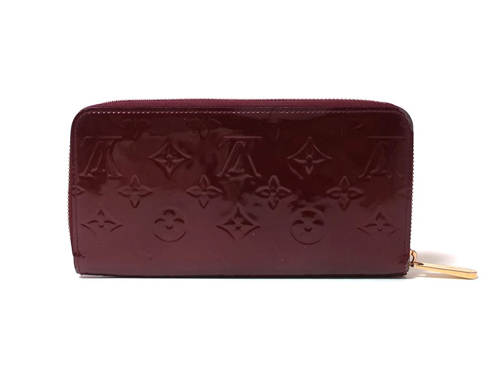 ルイヴィトン モノグラム・ヴェルニ ジッピー・ウォレット 長財布 M93575 背面
