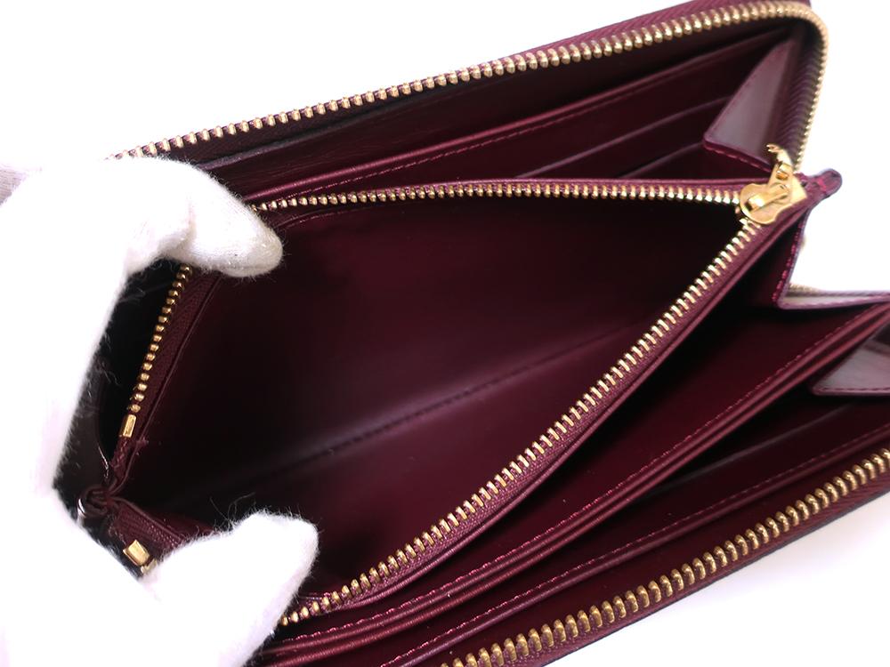 ルイヴィトン モノグラム・ヴェルニ ジッピー・ウォレット 長財布 M93575 内側ダメージ02