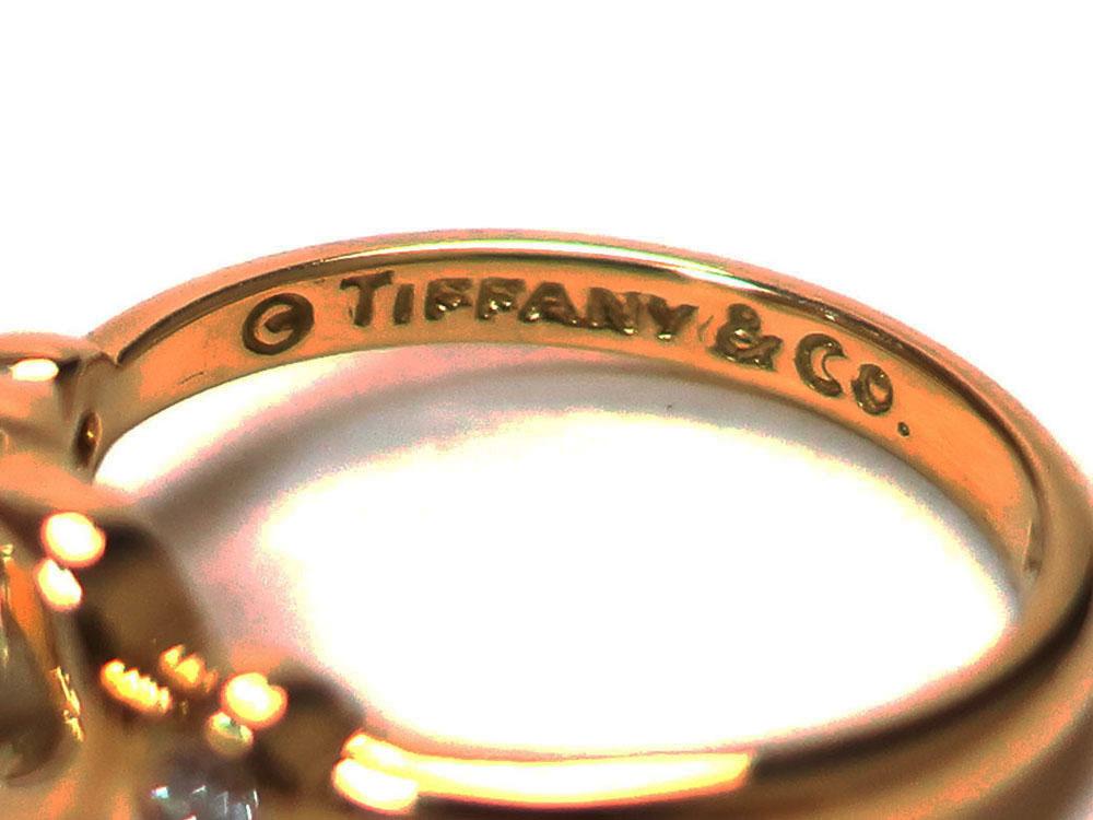 ティファニー エルサ・ペレッティ オープンハート リング イエローゴールド 2Pダイヤモンド 刻印01