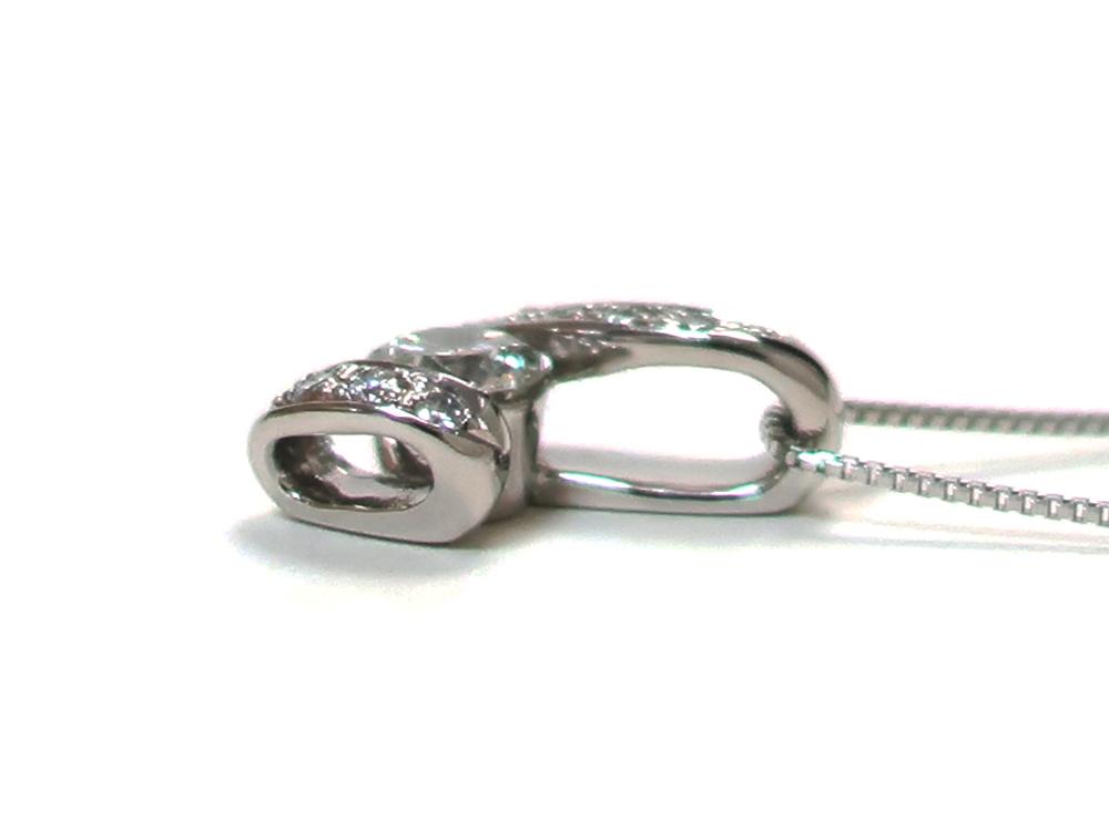 ジュエリー プラチナ ダイヤモンド ネックレス ダイヤ0.45ct 側面01