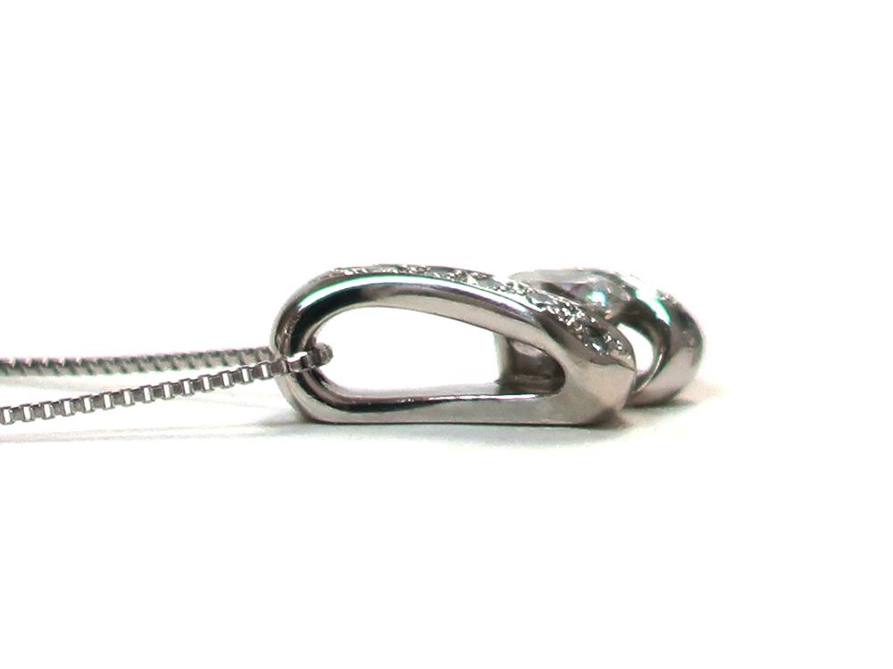 ジュエリー プラチナ ダイヤモンド ネックレス ダイヤ0.45ct 側面02
