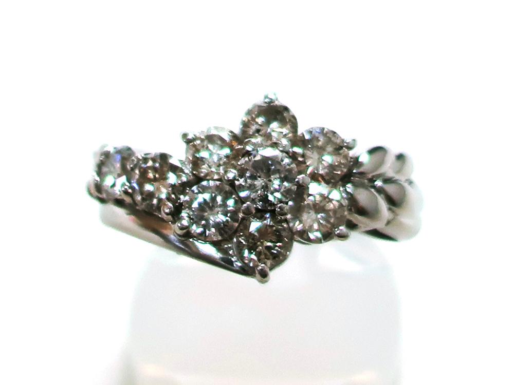 ジュエリー プラチナ ダイヤモンド リング ダイヤ2.00ct 8.0g 正面