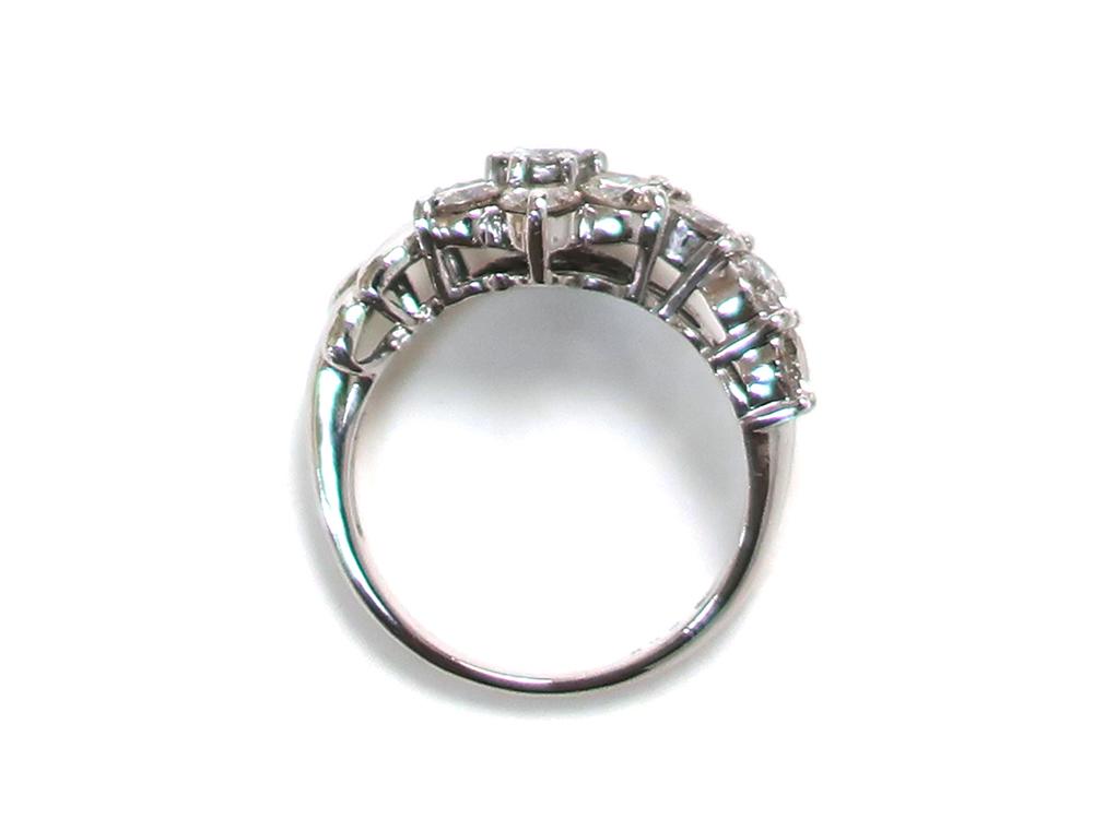ジュエリー プラチナ ダイヤモンド リング ダイヤ2.00ct 8.0g 上面