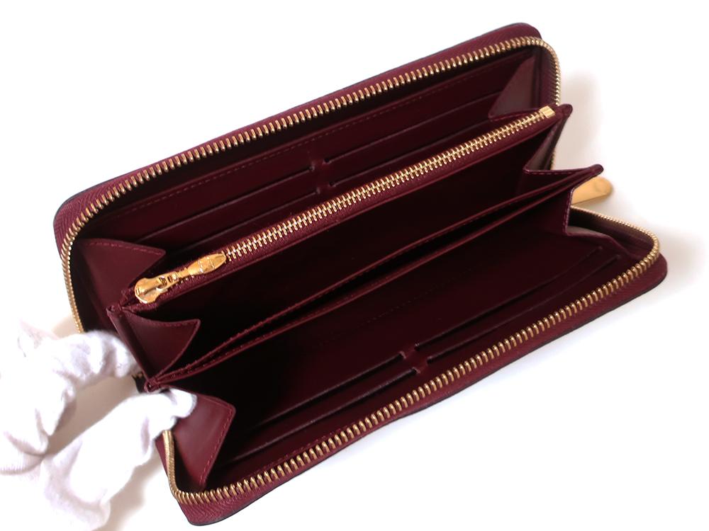 ルイヴィトン モノグラム・ヴェルニ ジッピー・ウォレット 長財布 M93575 Bランク 内面