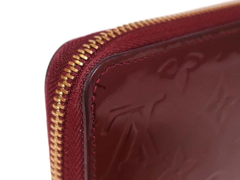 ルイヴィトン モノグラム・ヴェルニ ジッピー・ウォレット 長財布 M93575 Bランク 外側ダメージ02
