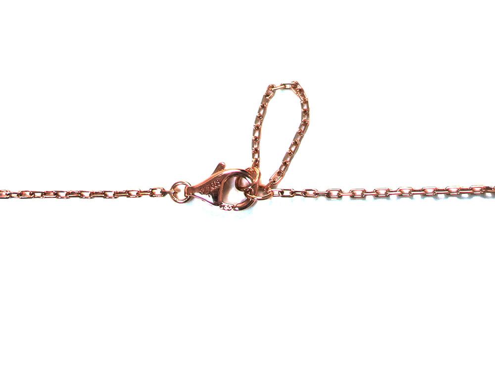 カルティエ ロゴ ドゥーブルC 5Pダイヤモンド ネックレス ピンクゴールド B7219200 金具02