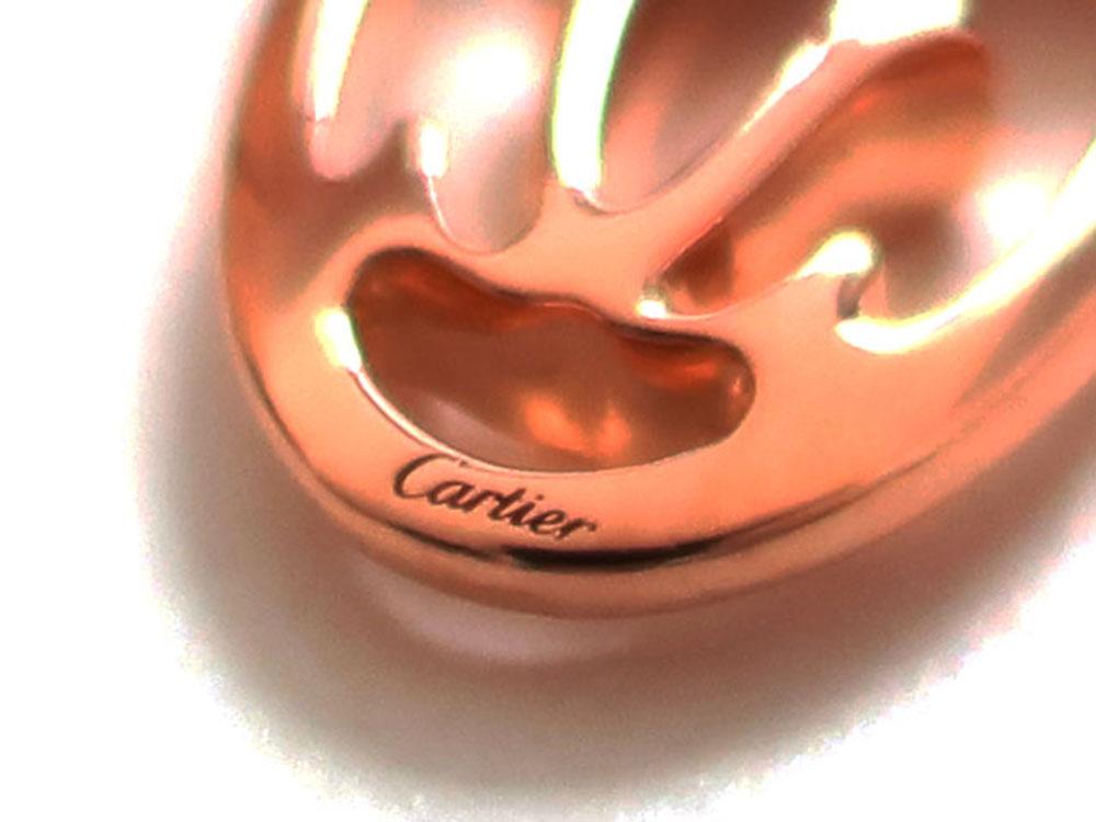カルティエ ロゴ ドゥーブルC 5Pダイヤモンド ネックレス ピンクゴールド B7219200 刻印03