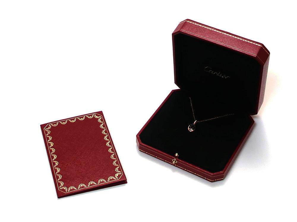 カルティエ ロゴ ドゥーブルC 5Pダイヤモンド ネックレス ピンクゴールド B7219200 付属品