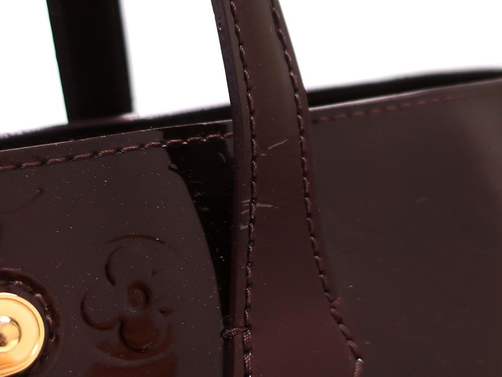 ルイヴィトン モノグラム・ヴェルニ ウィルシャーMM M91645 外側ダメージ02