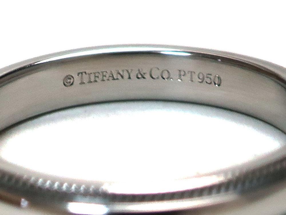 ティファニー クラシック ミルグレイン バンドリング 幅3mm プラチナ 刻印