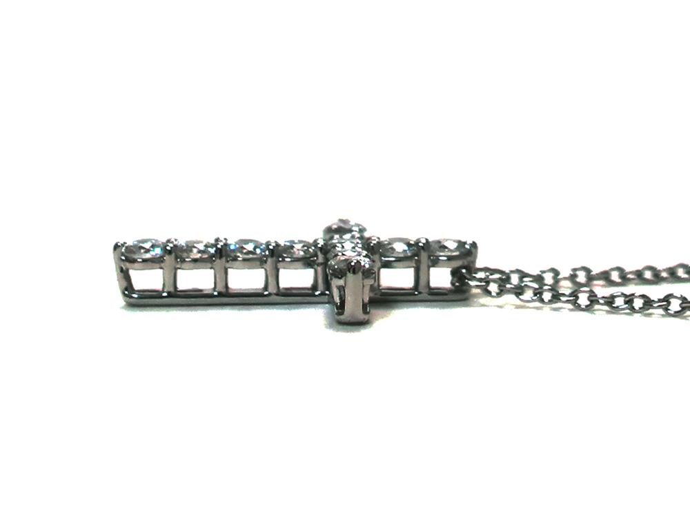ティファニー スモールクロス  ダイヤモンド ペンダント ネックレス プラチナ 側面