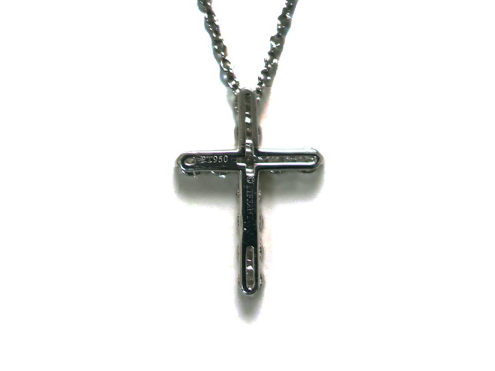 ティファニー スモールクロス  ダイヤモンド ペンダント ネックレス プラチナ 背面