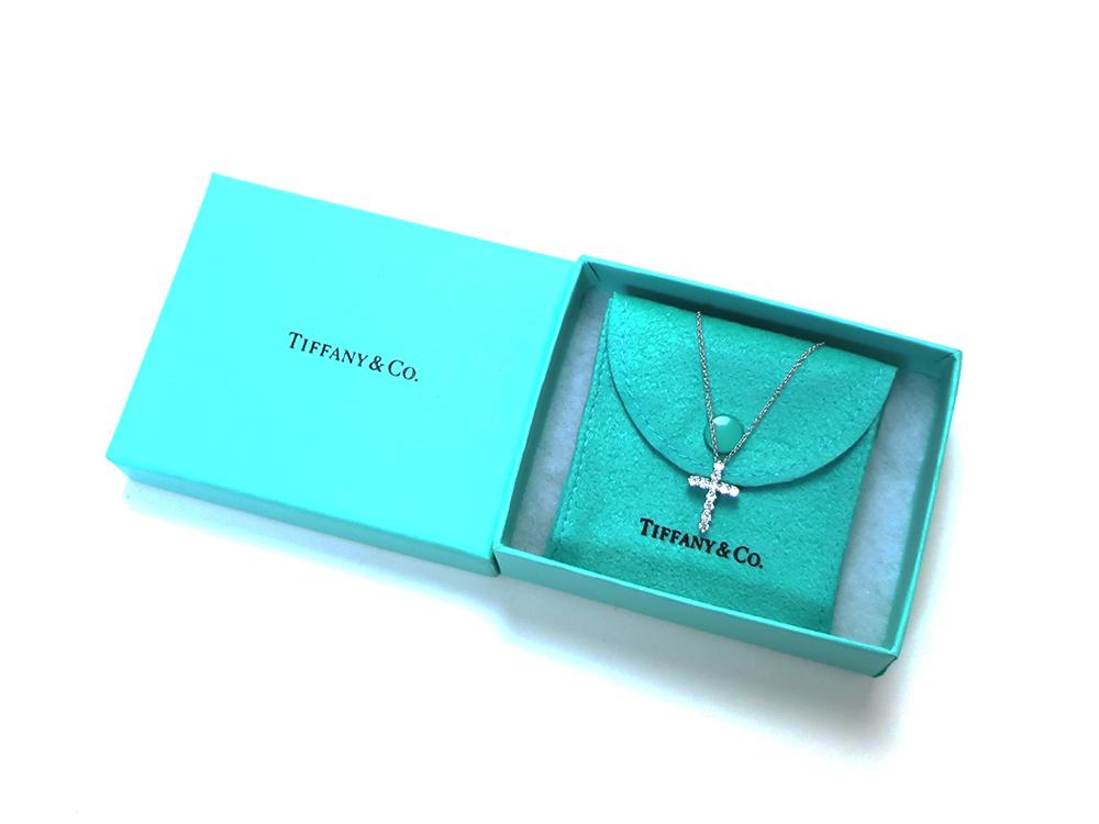 ティファニー スモールクロス  ダイヤモンド ペンダント ネックレス プラチナ 付属品