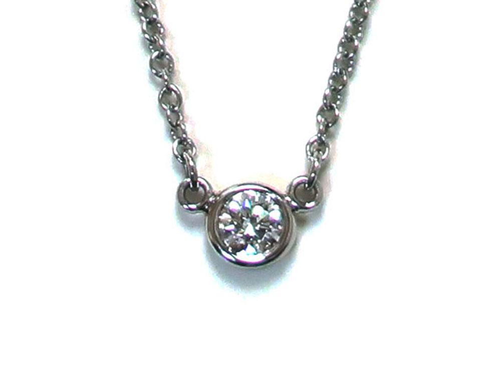 ティファニー エルサ・ペレッティ ダイヤモンド バイザヤード ペンダント ネックレス プラチナ 正面