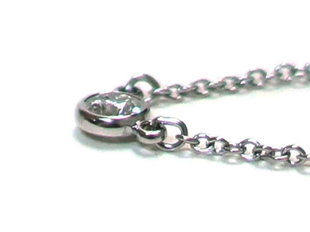 ティファニー エルサ・ペレッティ ダイヤモンド バイザヤード ペンダント ネックレス プラチナ 側面