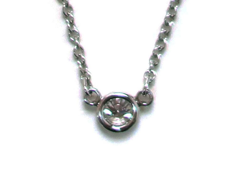 ティファニー エルサ・ペレッティ ダイヤモンド バイザヤード ペンダント ネックレス プラチナ 背面