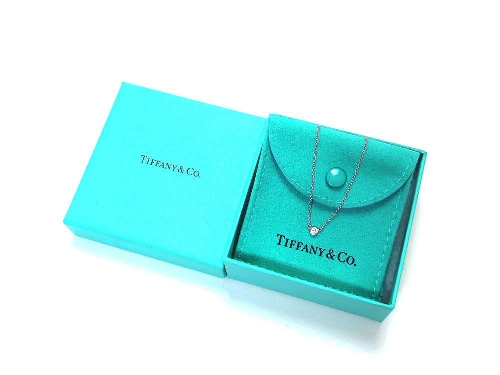 ティファニー エルサ・ペレッティ ダイヤモンド バイザヤード ペンダント ネックレス プラチナ 付属品