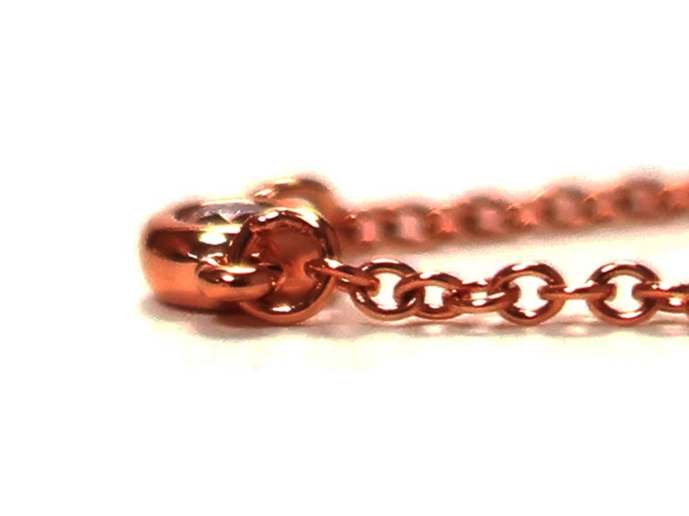 ティファニー エルサ・ペレッティ ダイヤモンド バイザヤード ブレスレット ローズゴールド 側面