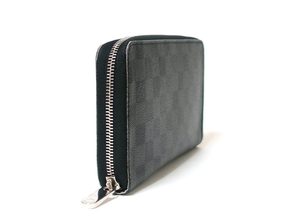 ルイヴィトン ダミエ グラフィット ジッピー・オーガナイザー 長財布 N63077 Bランク 側面