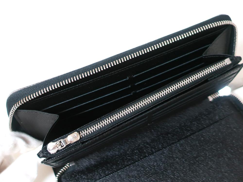ルイヴィトン ダミエ グラフィット ジッピー・オーガナイザー 長財布 N63077 Bランク カード入れ01