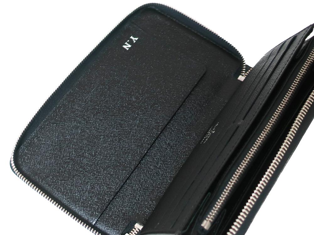 ルイヴィトン ダミエ グラフィット ジッピー・オーガナイザー 長財布 N63077 Bランク 左側
