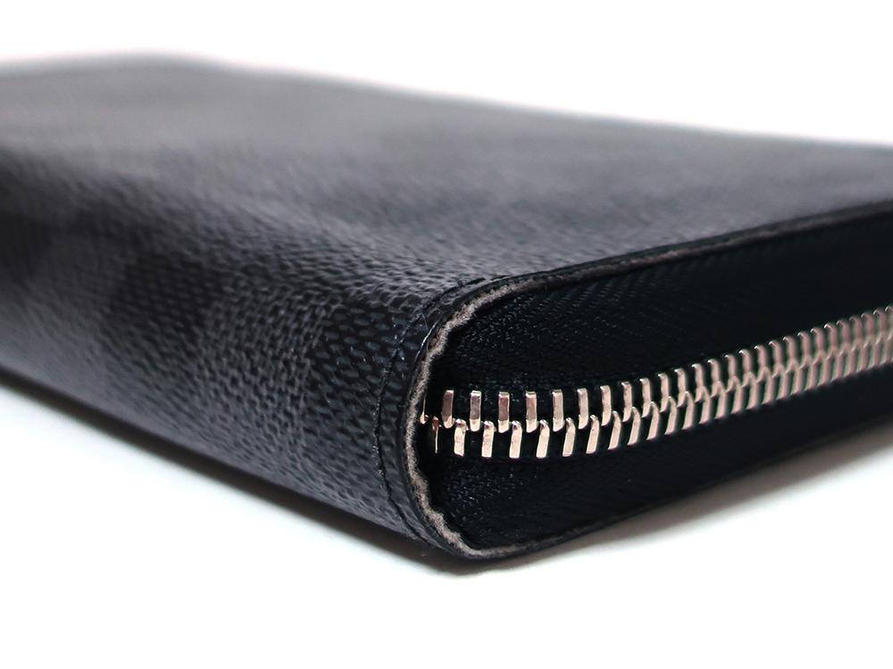 ルイヴィトン ダミエ グラフィット ジッピー・オーガナイザー 長財布 N63077 Bランク 外側ダメージ03