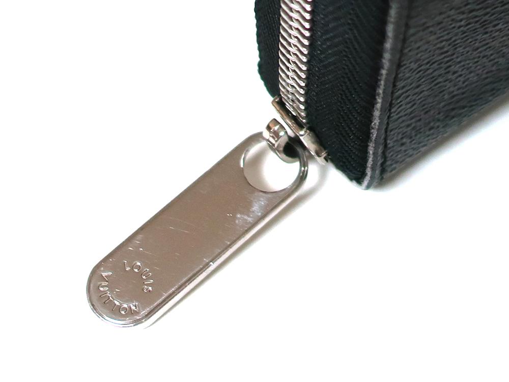 ルイヴィトン ダミエ グラフィット ジッピー・オーガナイザー 長財布 N63077 Bランク 外側ダメージ04