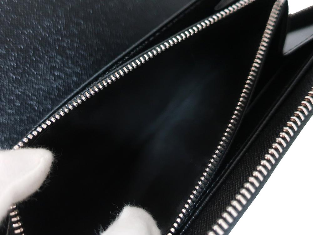 ルイヴィトン ダミエ グラフィット ジッピー・オーガナイザー 長財布 N63077 Bランク 内側ダメージ