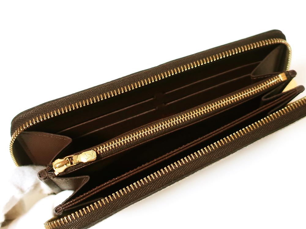 ルイヴィトン ダミエ エベヌ ジッピー・ウォレット 長財布 N60015 ABランク カード入れ01