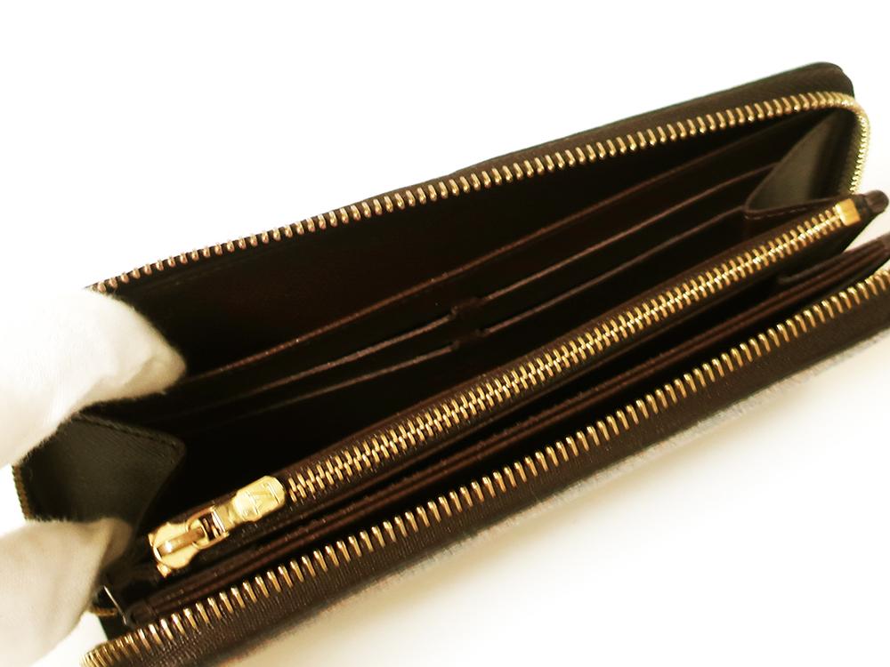 ルイヴィトン ダミエ エベヌ ジッピー・ウォレット 長財布 N60015 ABランク オープンポケット01