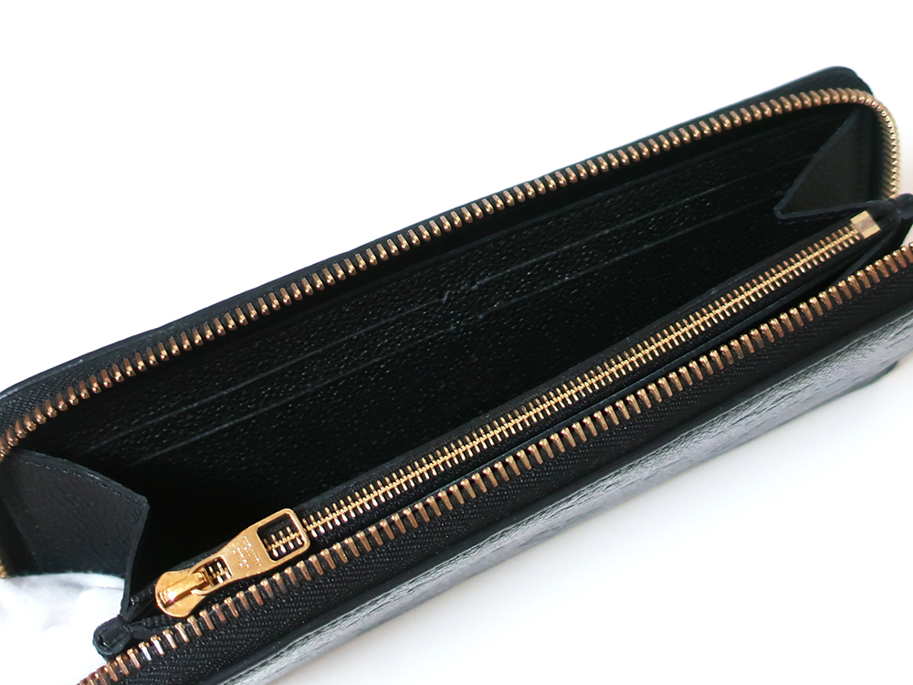 ルイヴィトン モノグラム・アンプラント ポルトフォイユ・クレマンス 長財布 M60171 カード入れ01