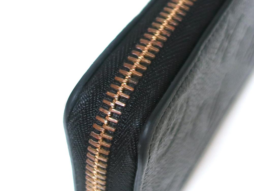 ルイヴィトン モノグラム・アンプラント ポルトフォイユ・クレマンス 長財布 M60171 外側ダメージ02