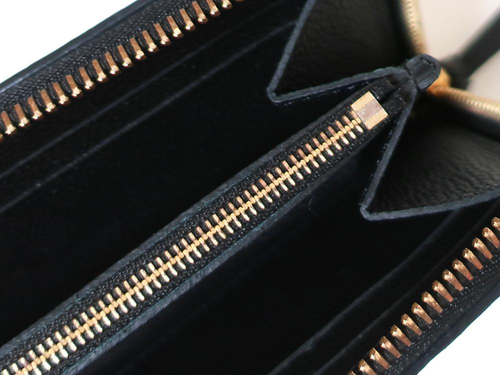 ルイヴィトン モノグラム・アンプラント ポルトフォイユ・クレマンス 長財布 M60171 内側ダメージ