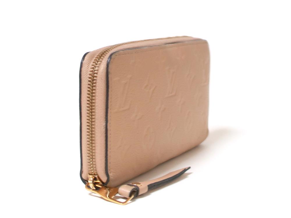 ルイヴィトン モノグラム・アンプラント ジッピー・ウォレット 長財布 M61866 側面