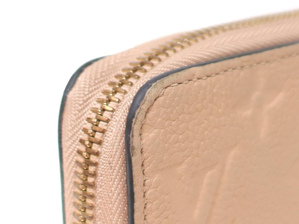 ルイヴィトン モノグラム・アンプラント ジッピー・ウォレット 長財布 M61866 外側ダメージ01
