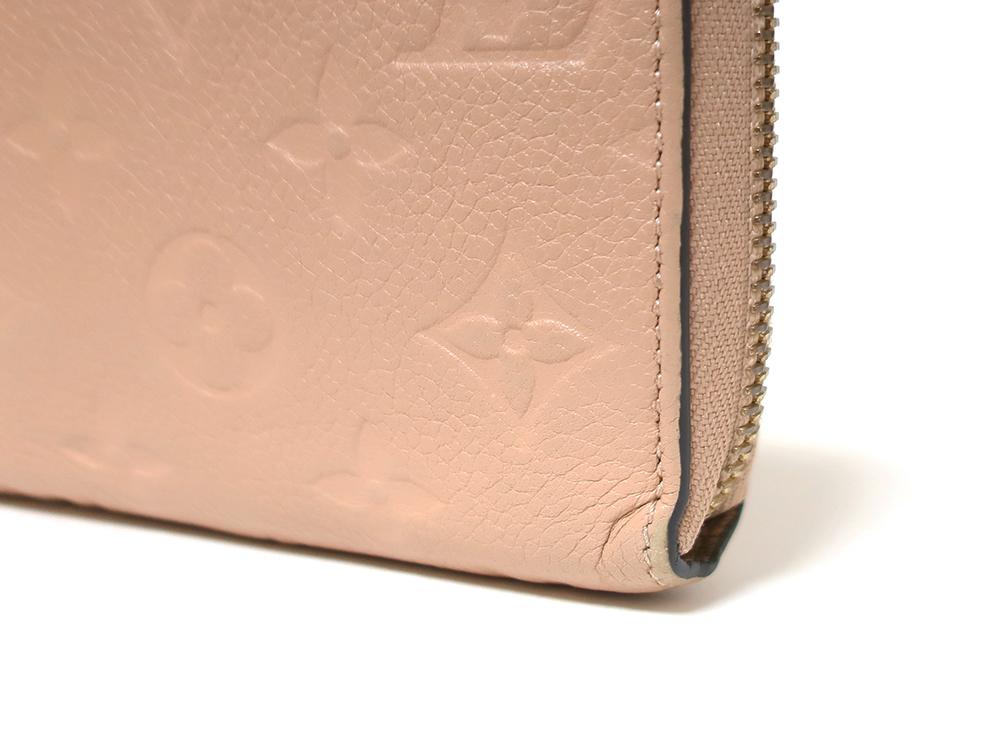 ルイヴィトン モノグラム・アンプラント ジッピー・ウォレット 長財布 M61866 外側ダメージ02